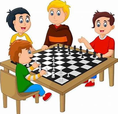 Chess Playing Board Cartoon Schach Che Scacchi
