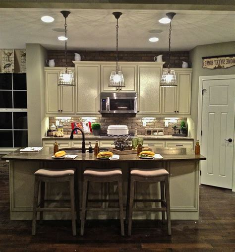 kitchen style island lighting rustic  decorative
