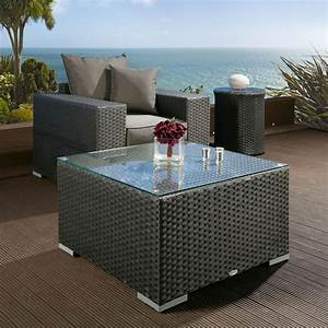luxury outdoor garden large square coffee table black With large square outdoor coffee table