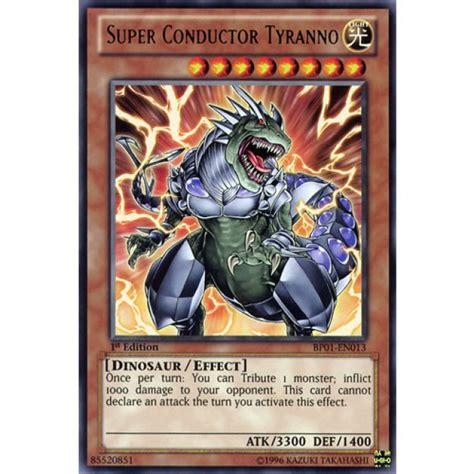 Super Conductor Tyranno Bp01en013 1st Edition Yugioh! Card