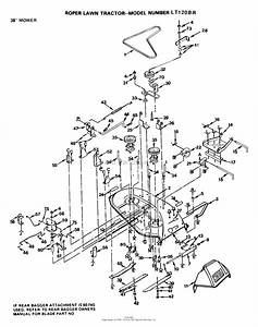 Ayp  Electrolux Lt1106b  1999  U0026 Before  Parts Diagram For 38 U0026quot  Mower Deck  Belt  Blades