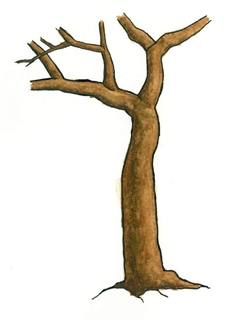 tree  trunk clipart branches clipground