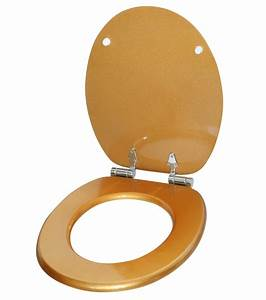 WC Sitz Mit Absenkautomatik Glitzer Gold WCShop24de