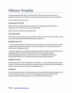 Online Cover Letter Template Where To Get An Obituary Template For Free