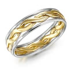 celtic knot wedding bands wedding ring mens gold two tone celtic knot wedding band at irishshop celco2014g