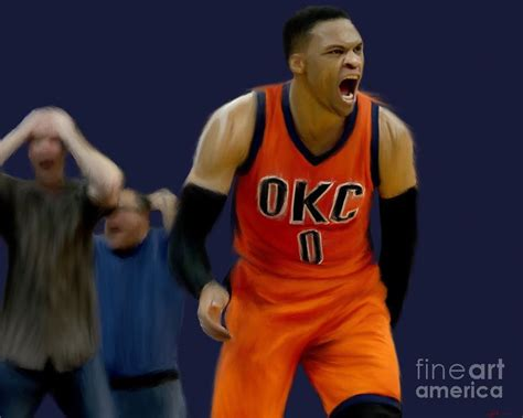 Russell Westbrook Triple Double Painting By Jack Bunds