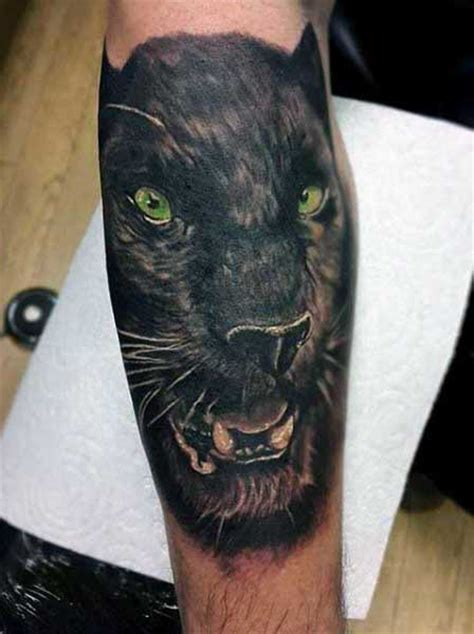 panther tattoo designs men cool big jungle cats