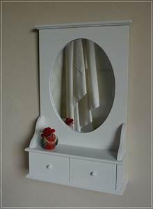 Spiegel Mit Ablage Weiß : ovaler wandspiegel wei spiegel mit ablage landhaus stil neu ebay ~ Indierocktalk.com Haus und Dekorationen