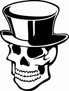 Skulls With Top Hats - Cliparts.co
