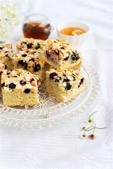 blueberry  almond traybake supergolden bakes