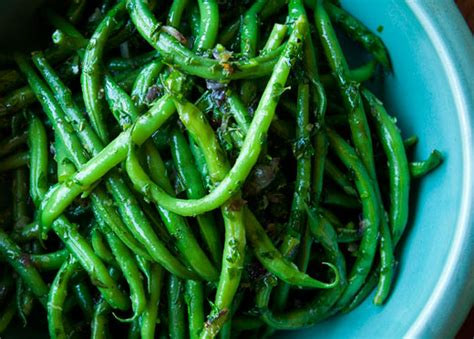 french green beans haricot verts  herbs