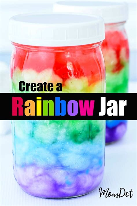 diy rainbow jar tutorial  mason jar crafting