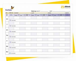 free blood glucose log book