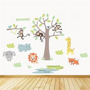 safari wall decals uk wall stickers decals With jungle wall decals