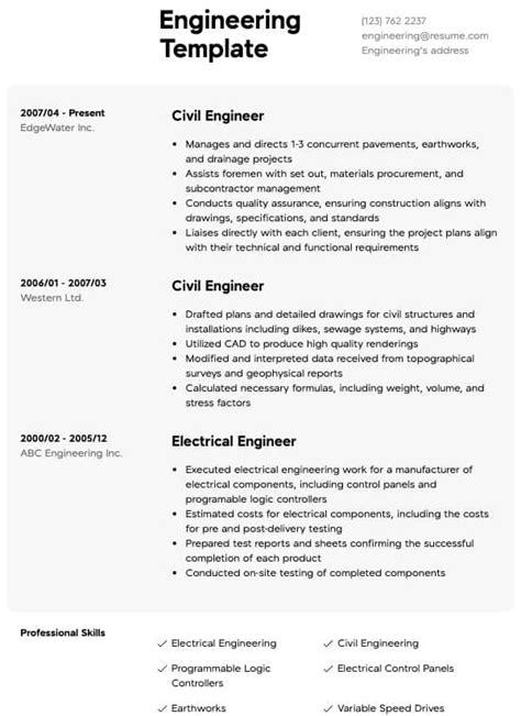 Engineering Resume Samples | All Experience Levels | Resume.com | Resume.com