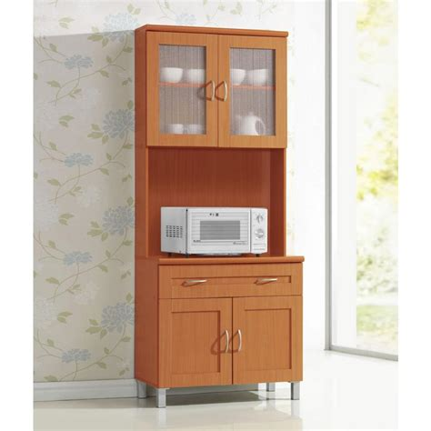 kitchen cabinets in china hodedah china cabinet cherry with microwave shelf 6124