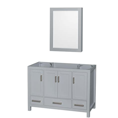 wyndham collection medicine cabinet wyndham collection sheffield 48 in vanity cabinet with