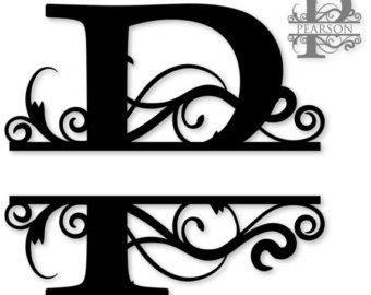 font p etsy uk  monogram fonts monogram letters monogram fonts