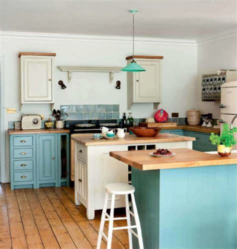 turquoise  cream kitchen house  turquoise