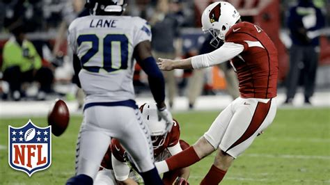 cardinals seahawks  potential game winning fgs