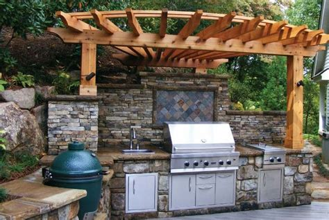 outdoor kitchen green egg picture of custom outdoor kitchen bbq smokers nc big green 3855