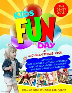 kids fun day flyer template postermywall With fun day poster template
