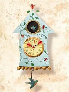 #Wanduhr Vogel mit Pendel für #Küche und Wohnung Die