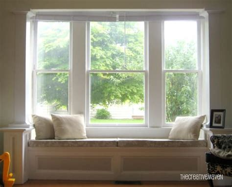 square bay seat window cushioned    open