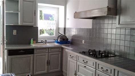 cuisine en gris cuisine repeinte en gris