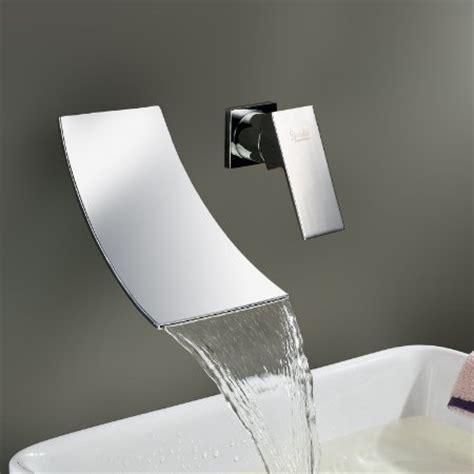 designer bathroom fixtures buy ouku waterfall widespread contemporary bathroom sink faucet chrome finish cheap discount