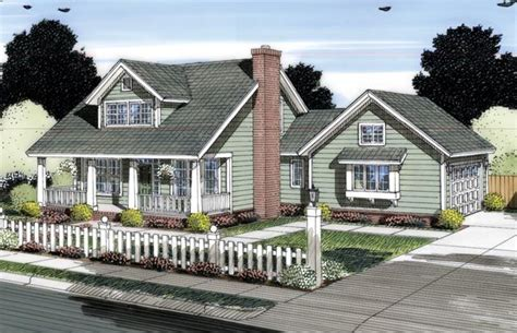 cape  country house plan  house plans breezeway  house