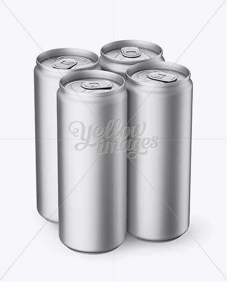 100+ vectors, stock photos & psd files. Download 4 Matte Metallic Aluminium Cans Mockup - Half ...