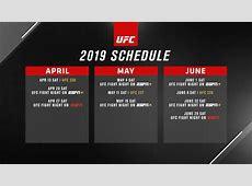 UFC Schedules Seven Fight Night Events on ESPN+, ESPN in