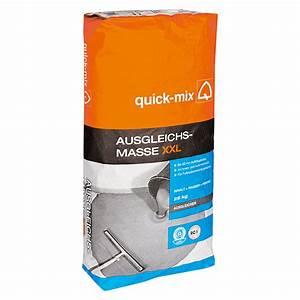 Ausgleichsmasse Quick Mix : quick mix ausgleichsmasse xxl 25 kg schichtdicke 1 60 ~ Michelbontemps.com Haus und Dekorationen