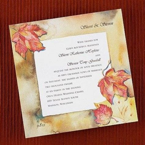 gorgeous fall wedding invitations ideas style motivation