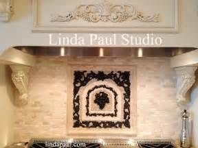 kitchen backsplash medallions decorative tile inserts metal accent tiles and overlays
