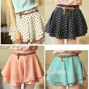 Skirt: short, skater, skater skirt, belt, coral, orange ...