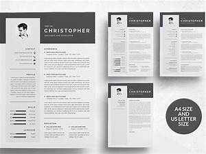 3 Pages Modern Resume Template  Cv By Resume Templates On