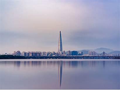 Seoul Panorama Skyscraper Korea South Background