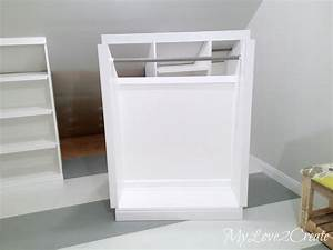 Ana White Rolling Slanted Wall Built-Ins Featuring My