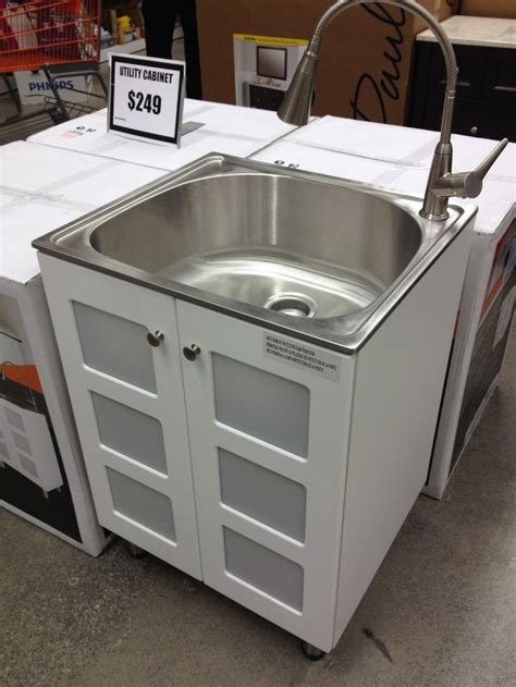 love this stainless steel laundry sink cabinet 249 home