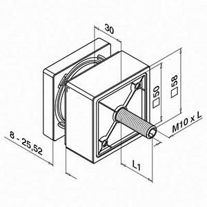 glasadapter vierkant 50x50 mm flach m10 gew With französischer balkon mit sonnenschirm rechteckig zum kippen