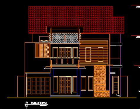 denah rumah minimalis  lantai autocad