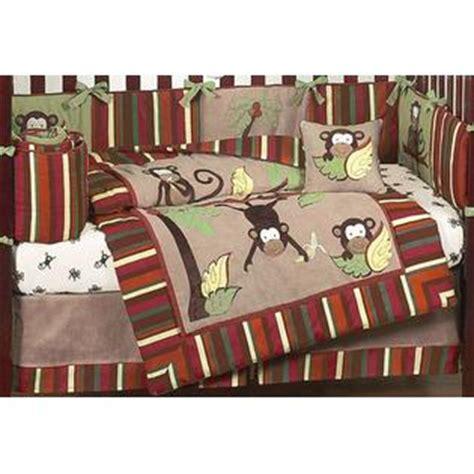 sweet jojo designs monkey collection 9pc crib bedding set