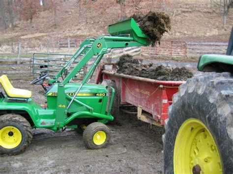 garden tractor loader front end loader for garden tractor yesterday s tractors 3734