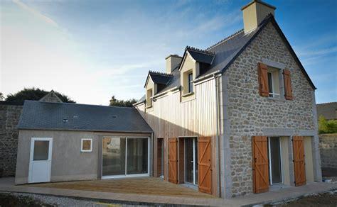 bardage bois chambre construction maison barfleur de 90 00 m sur terrain de