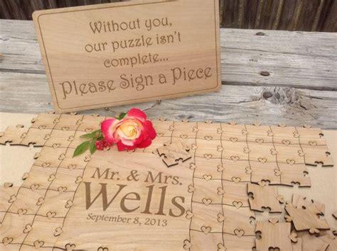 25+ Best Ideas About Puzzle Guest Books On Pinterest