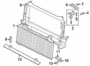 Jaguar Xe Radiator Support Bracket  Upper  Lower   Liter