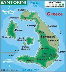 Santorini Island Map / Geography of Santorini Island / Map ...