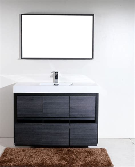 Modern Bathroom Vanities Canada by Bliss 60 Quot Kubebath Modern Grey Oak Vanity U2502 The